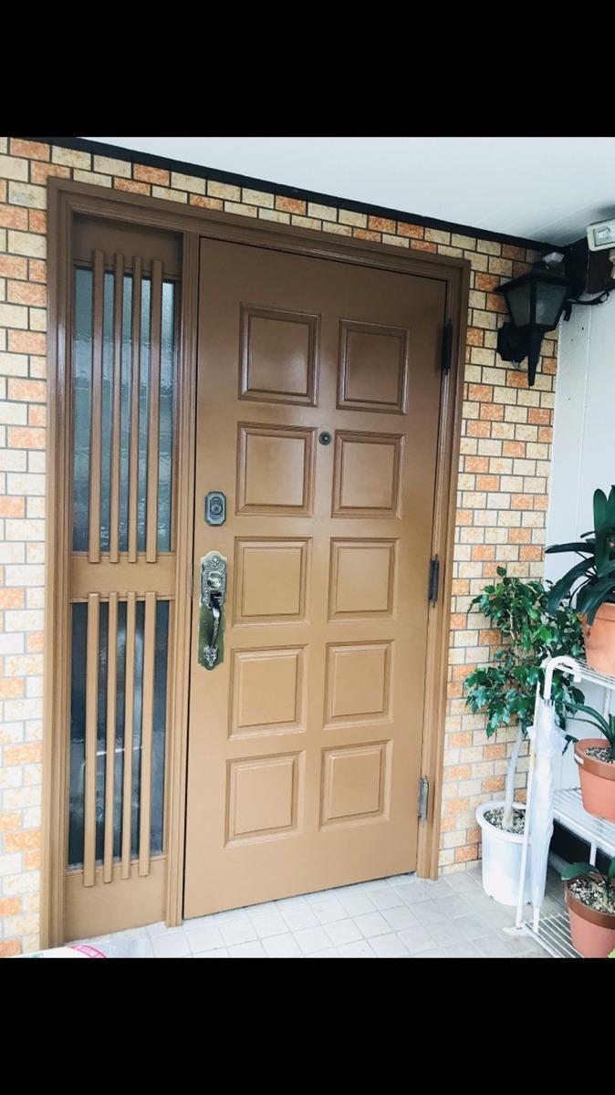 【玄関ドア塗装工事】東浦町 A様邸 2017年11月8日