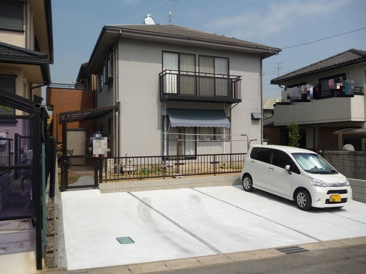 【駐車場増設・テラス取替え事例】 大府市 N様邸
