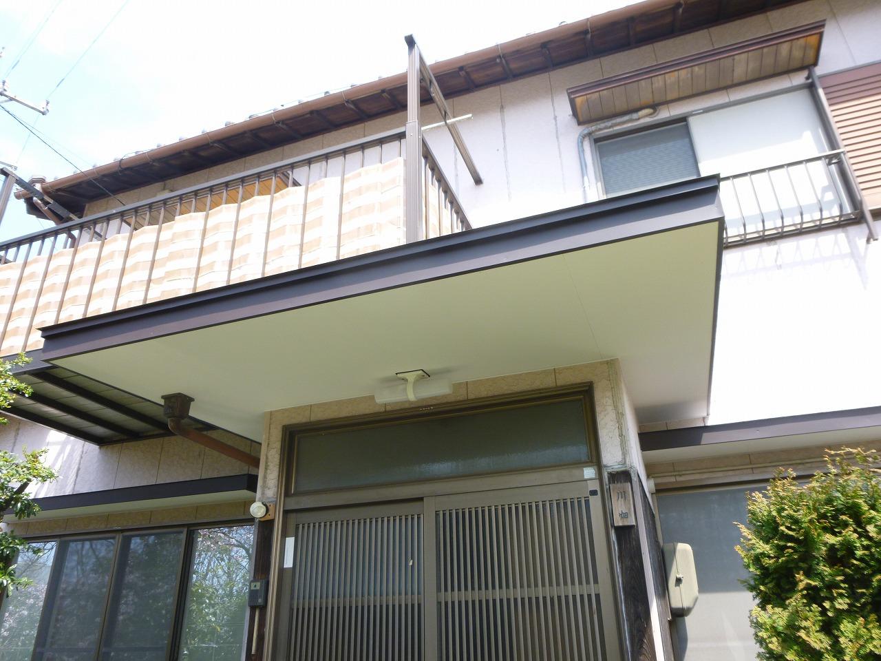 【庇補修リフォーム工事】 東海市 K様邸