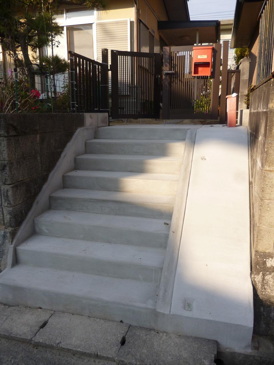 【コンクリート階段改修リフォーム工事】 知多市 K様邸