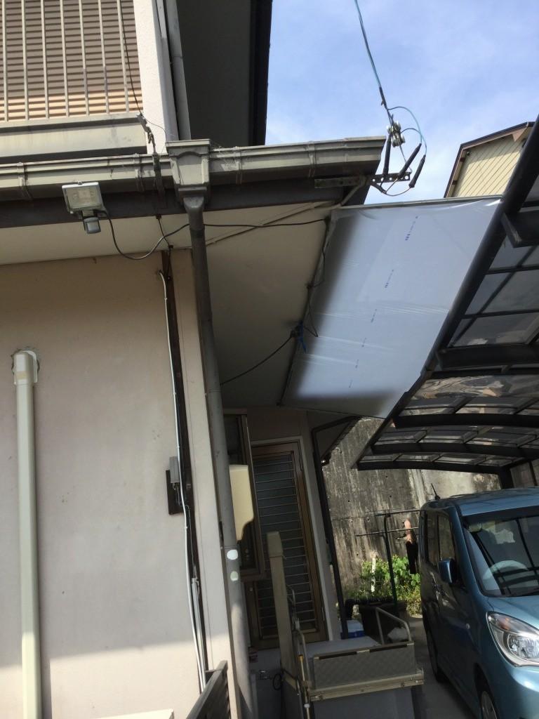 【雨除けビニール張替工事】 知多市 H様邸 2016年8月8日