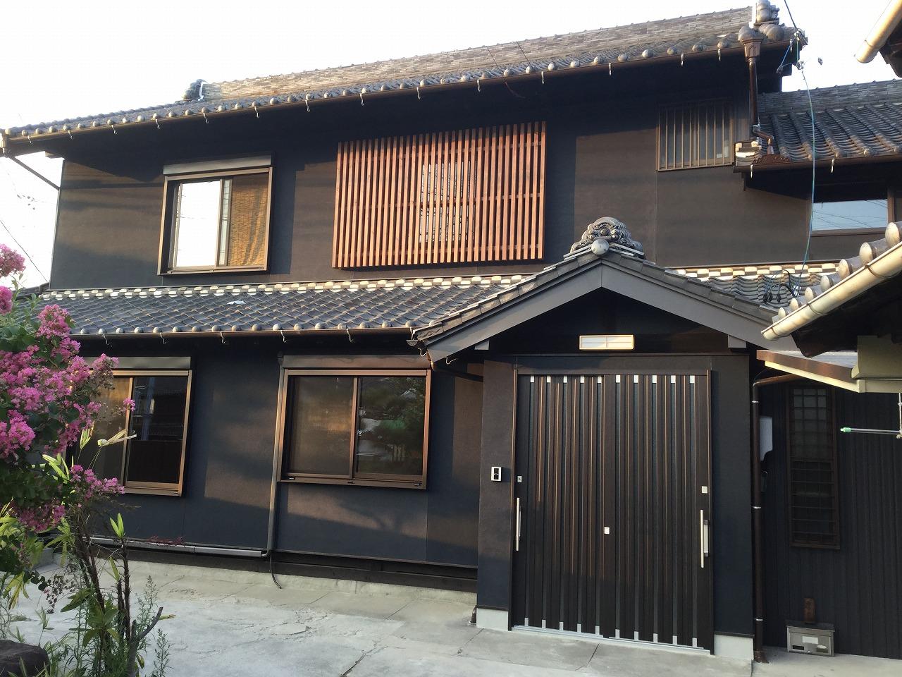 【外壁塗壁・サッシ交換リフォーム工事】 知多市 K様邸 2016年9月26日