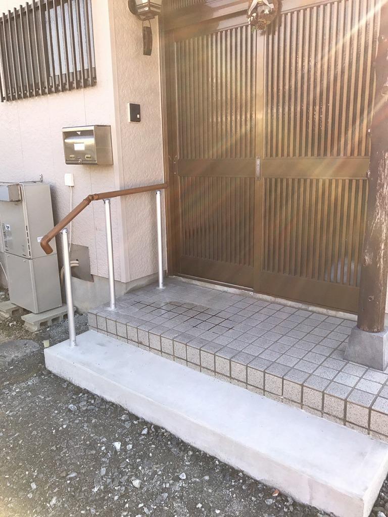 【玄関手すり設置工事】 知多市 U様邸 2017/11/24